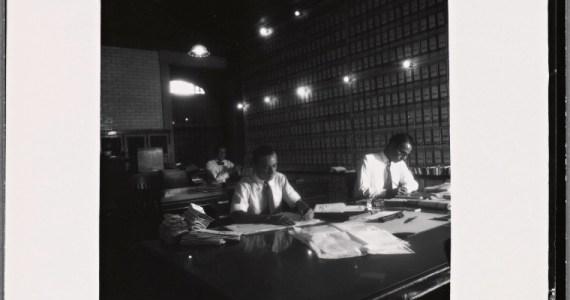 Men studying