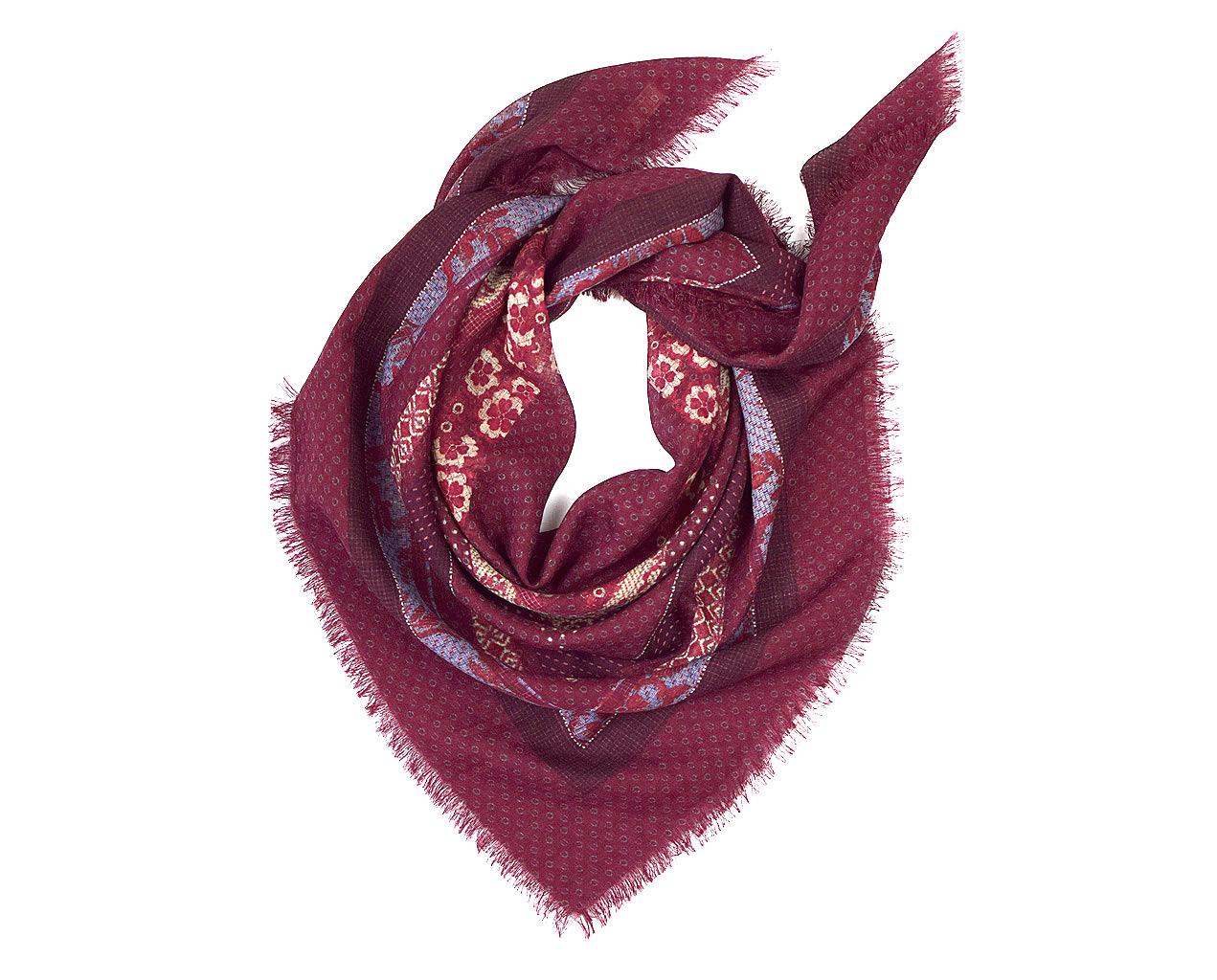 Batik Patchwork Wool Scarf Laslett England