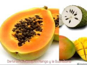 Dieta de la Papaya el Mango y la Guanábana
