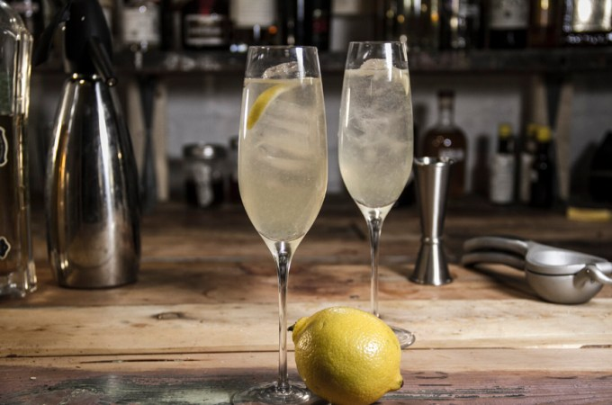Elderflower Fizz cocktail with St Germain - complete