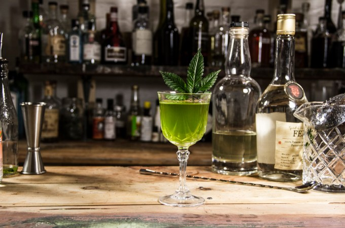 Green Dragon liquid Marijuana Cocktail - finished