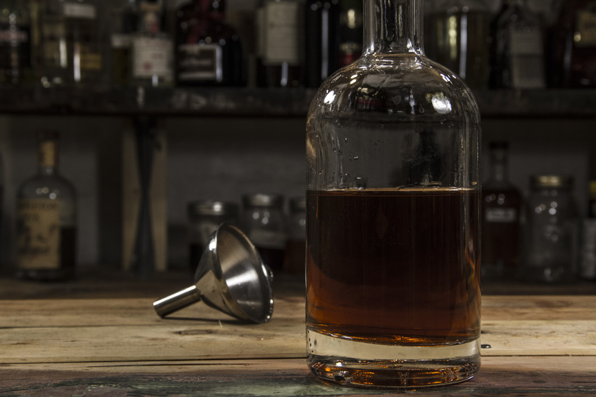 How to make Bacon flavored bourbon-11