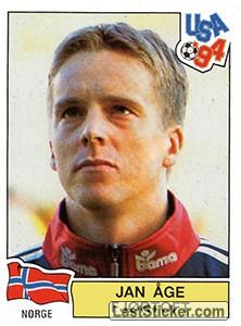 Sticker 356: JAN AGE FJORTOFT - Panini FIFA World Cup USA 1994 - laststicker.com