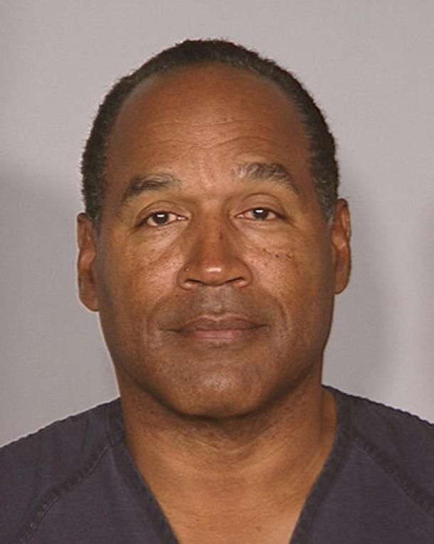 O.J. Simpson LVMPD Booking Shot after being found guilty in 2008