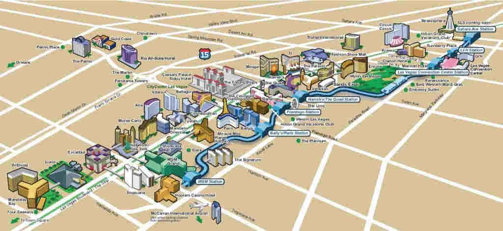 Las Vegas Strip Map (2019) LasVegasHowTo