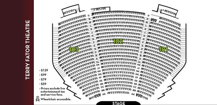 Mirage Las Vegas Terry Fator Seating Chart - Mirage hotel theater