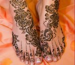 Mehndi for feet