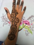 Latest Arabic Mehndi Designs 2012 for Hands