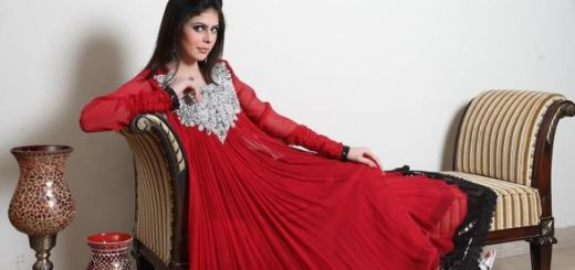 Red-party-wear-stylish-collection-2012-2013