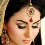 smoky brown bridal eye makeup