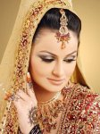 smoky brown bridal mehndi makeup