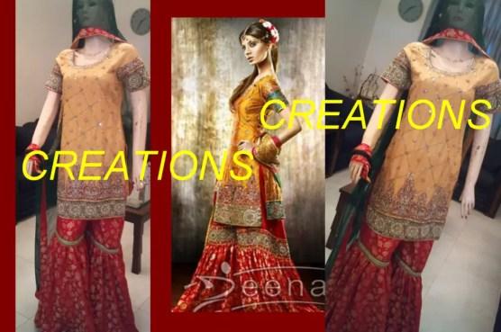 Asian yellow dresses for mehndi