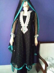 Black fancy dress design