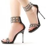 Bridal shoes black
