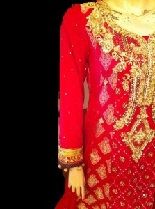 Embroidered pakistani dress