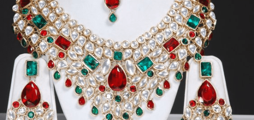 Asian kundan jewelry for bride