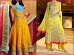 Pakistani mehndi dresses 2013
