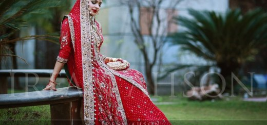 Bridal dresses in red color
