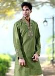 Formal kurta designs in green color