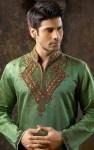 green indian kurta designs for groom