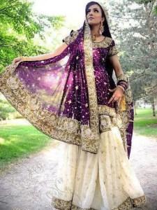 Bridal walima dresses in sharara style