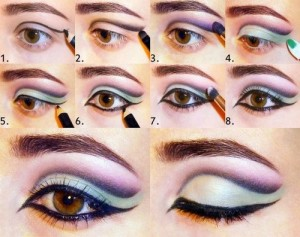 How to do eye makeup on round eyes