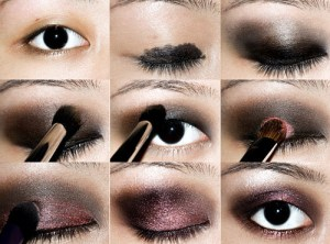 Smoky Asian eye makeup steps
