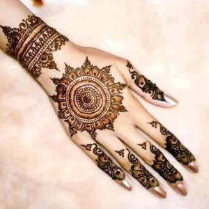 Tikya henna mehndi designs 2013