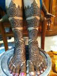 Bridal henna designs for feet