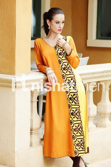 nishat Winter Dresses for Girls 2013