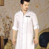 Latest White Kurta Design for Mehndi Function