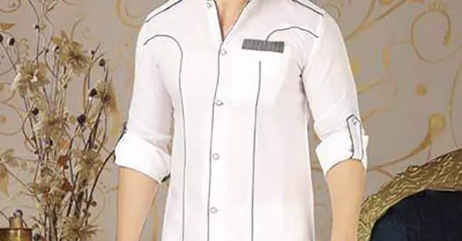 Latest White Kurta Design for Mehndi Function