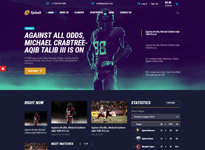 Top 20+ Bootstrap Best Sports Website Templates Design Download 2019