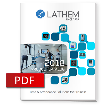 Lathem Time Clock Product Brochures FaceIN  PC600