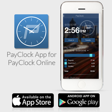 Employee Time Clock App, Time Card App \u2013 PayClock Online