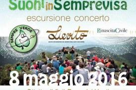 Un concerto tra le montagne, domenica 8 maggio Suoni in Semprevisa