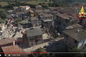 VIDEO Terremoto, le immagini del drone dei vigili del fuoco