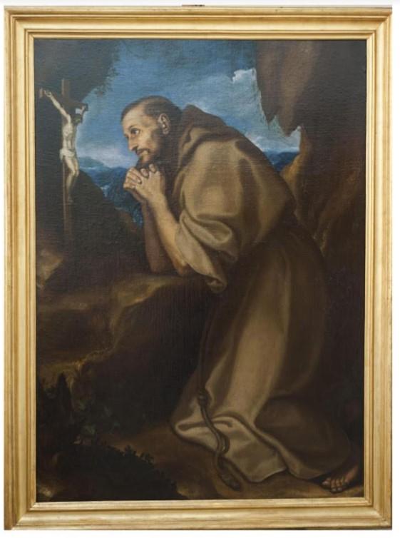 dipinto-san-francesco-orante-sermoneta