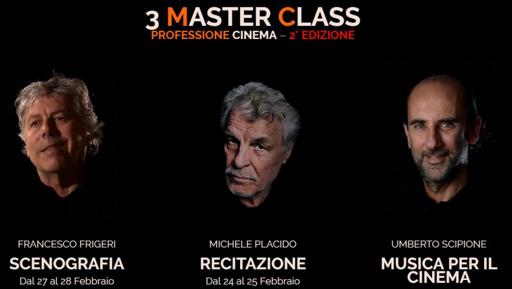3 Master Class - Professione Cinema 2edizione - Latina Film Commission