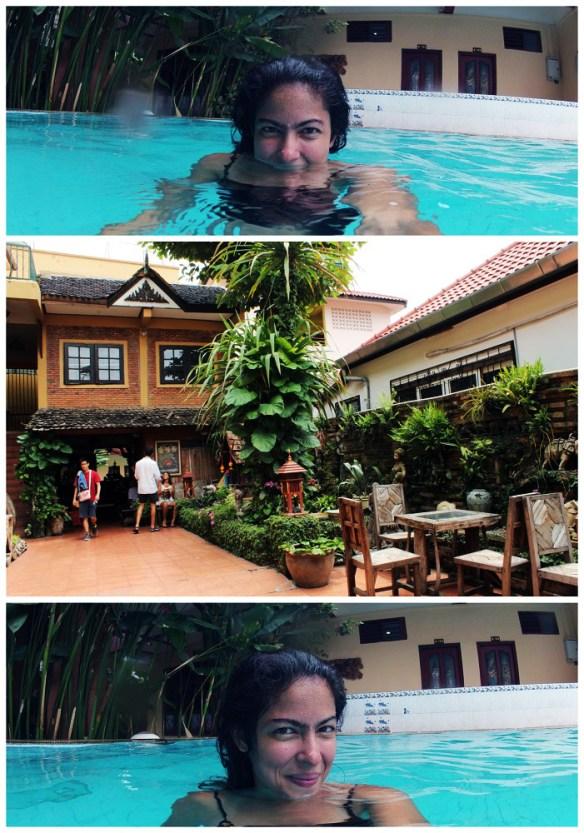 Chiang Mai solo female traveler, pool crashing