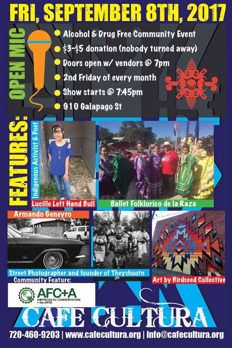 cafe cultura open mic, tonight! sept 8 | latin life denver