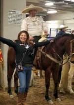 Ruby Gonzalez with Charro Brian Maestas
