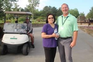 Gina Del Castillo and Allen Golf Pro from Hyland Hills