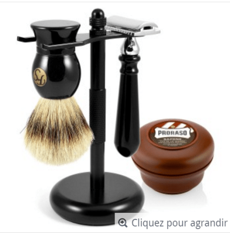 Un kit de rasage (modèle à 141,95€ sur Trend Him)