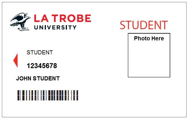 Student ID cards, Student admin, La Trobe University - student identification card