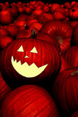 Carving A Pumpkin Face Using Blending Modes & Effects In Photoshop