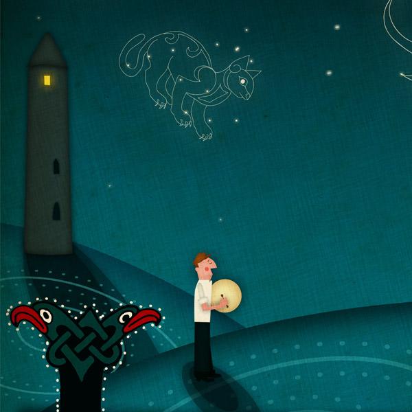 Book Of Kells Illustration by Jennifer Farley