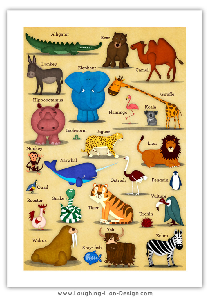ABC Animal Poster Jennifer Farley