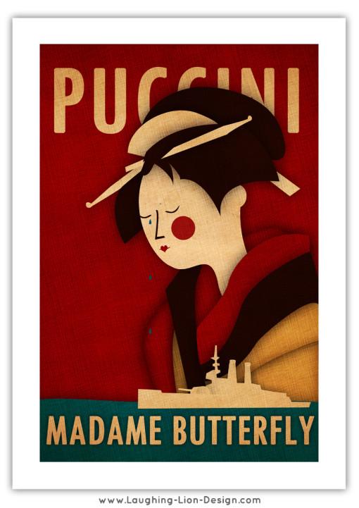 Madame Butterfly Print Jennifer Farley