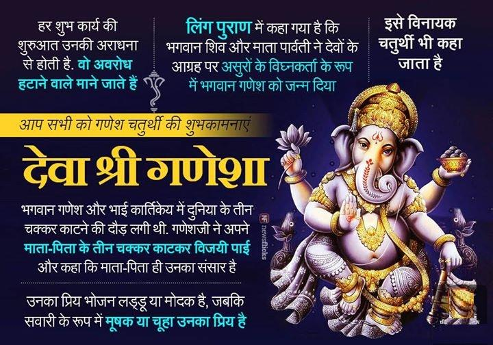 Navratri Wallpaper With Quotes Happy Ganesh Chartuthi Quotes